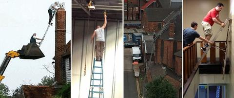 Using Ladders in Dangerous situations | SG World Crewe