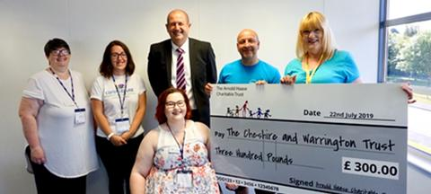 SG World Makes Charitable Donation to Cheshire & Warrington Carers