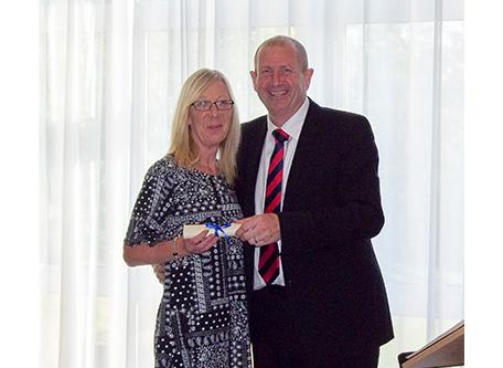 Carol Davis (left) Mark Haase (right) SG World Crewe