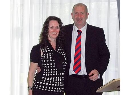 Lisa Robinson (left) Mark Haase (right) SG World Crewe