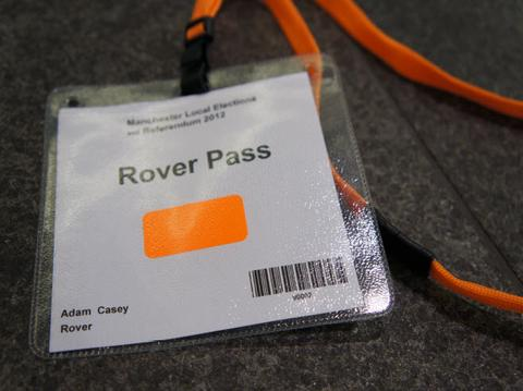 Election Attendee Couter Pass | SG World Crewe